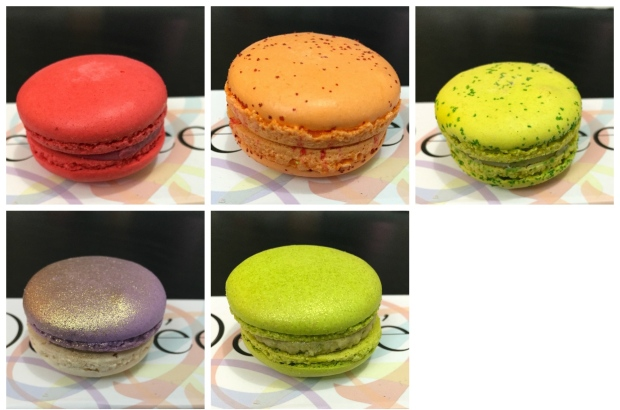 From Left to Right - Wildflower; Apricot Black tea; Lime Basil; Roasted Pistachio; Praline Crunch (not pictured).