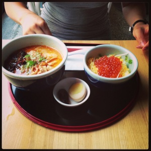 Kara Miso Ramen (?) with Ikura (Salmon Roe)
