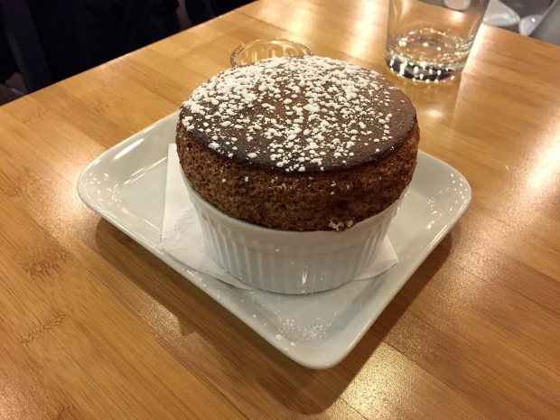 Chocolate Soufflé with Guava sauce - $8.75