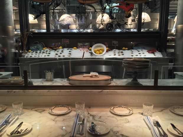 Open seafood bar